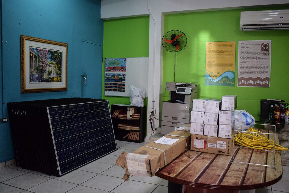 Solar Panels in G8 HQ